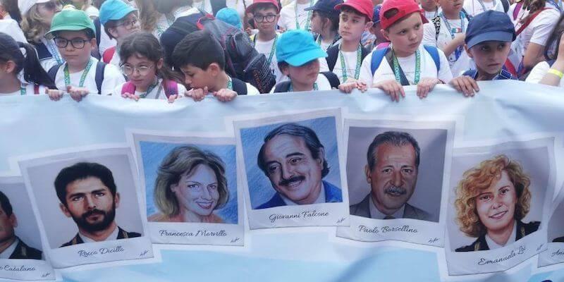 Palermo Chiama Italia Corteo Bambini
